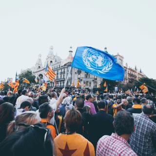 Població catalana a la manifestació del 20-S
