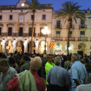 Concentració el 20.09.17 a la plaça de la Vila Vilanova i la Geltrú