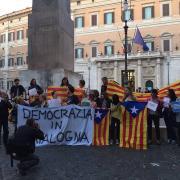 Concentració davant del parlament italià, a Roma