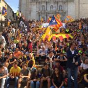 Estudiants a les escales de la Catedral de Girona