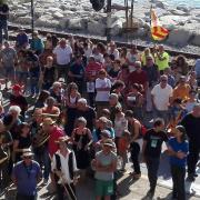 Marató per la Democràcia, a davant de l'Ajuntament de Sant Pol de Mar