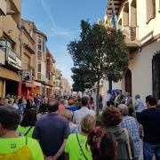 Marató per la Democràcia, davant de l'Ajuntament de Malgrat de Mar