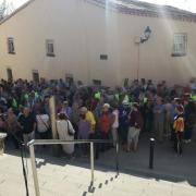 Marató per la Democràcia, davant de l'Ajuntament de Teià
