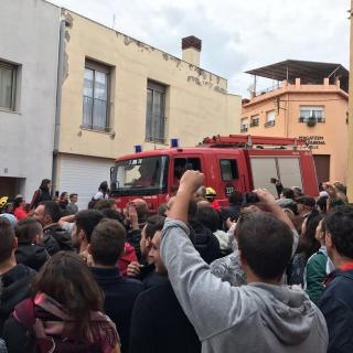 Arribada bombers a Sant Hilari de Sacalm