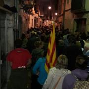 Concentració al carrer Ballesteries a les 23:19