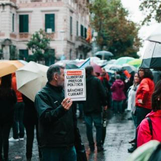 Concentración 19-O a la Delegació del Govern a Barcelona
