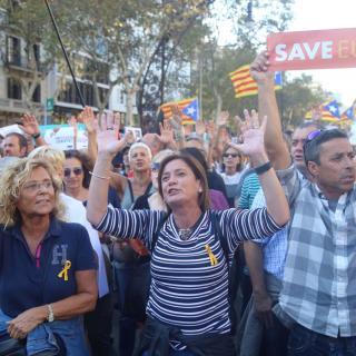 Els carrers del centre de Barcelona plens