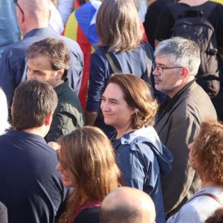 Ada Colau, alcaldessa de Barcelona, a la manifestació de Barcelona