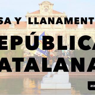 Cartell que l'Assemblea Nacional Catalana ha fet públic el 21 d'octubre de 2017