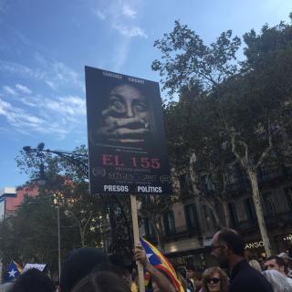 Un cartell d'una pel·lícula de terror pels catalans. El seu títol, 155