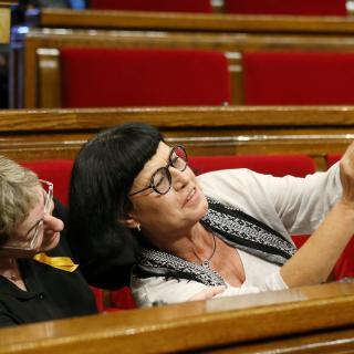 Barcelona. Ple del Parlament on la cambra ha de decidir sobre la declaració d'independència