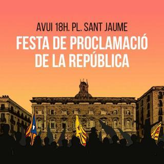 Cartell de la Festa de la República a Plaça Sant Jaume