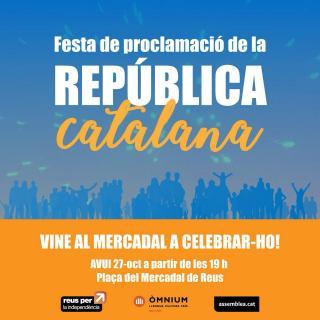 Cartell de la Festa per la República convocada a Reus