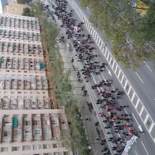 Vaga del 8 de novembre, a la Meridiana de Barcelona