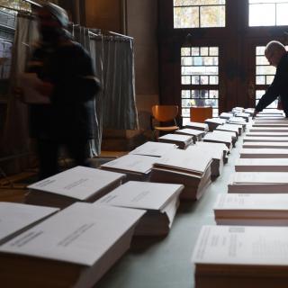 Col·legi electoral de la plaça Universitat de Barcelona