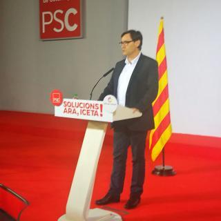 Salvador Illa, actuant com a portaveu del PSC, destaca l'altíssima participció