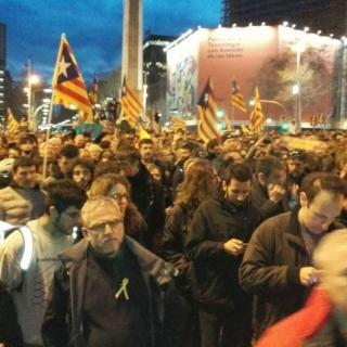Manifestació a Barcelona ara mateix