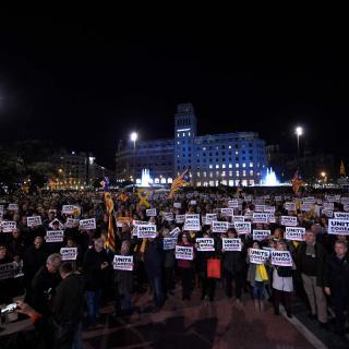 Concentració contra la repressió a Barcelona