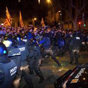 Hi ha hagut a Barcelona enfrontaments amb els Mossos