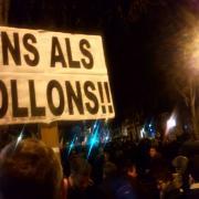 Cartells ben explícits a Barcelona
