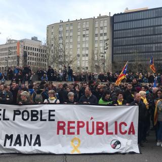 Concentració davant la delegació del Govern espanyol ma Girona
