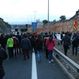 Talls de carreteres i l'autopista AP-7 a Tarragona