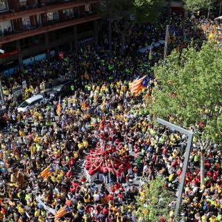 Els organitzadors, l'Espai Democràcia i Convivència xifren en 750.000 els assistents a la manifestació i la Guàrdia Urbana diu que han estat 315.000