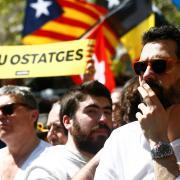 Roger Torrent, president del Parlament, a la manifestació d'aquest diumenge a Barcelona