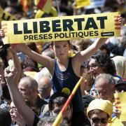 Manifestació a Barceloona 'Pels drets i les llibertats, per la democràcia i la cohesió, us volem a casa!'