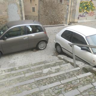 Bloqueig entrada a la universitat. pujada Sant Domenec.