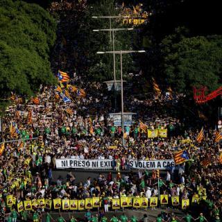 L'independentisme torna al carrer per la llibertat dels presos i el retorn dels exiliats