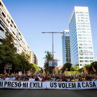 Manifestació organitzada per ANC, Òmnium i ACDC