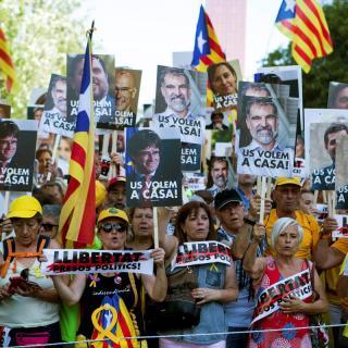 Els organitzadors xifren en 200.000, el nombre de persones a la manifestació en favor de la llibertat dels presos d'aquest dissabte a Barcelona
