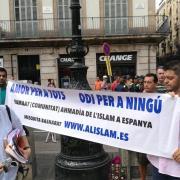 La marxa silenciosa dels CDRs arriba al mosaic de Miró de la Rambla de Barcelona