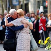 Familiars de les víctimes mortals dels atemptats del 17-A a la Rambla de Barcelona