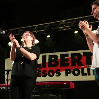 Marxa de torxes a Girona, dilluns 10 de setembre
