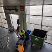 Degoters a l'estació de Renfe a Girona