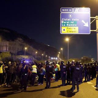 Les protestes estan convocades amb motiu de la reunió del consell de ministres a la capital catalana