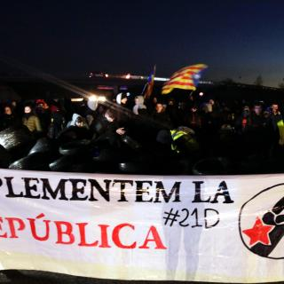 L'AP-7 tallada a Girona