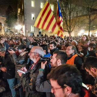 16 01 19 Girona - Protesta detenció Independentistes