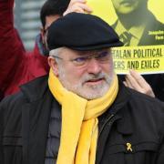 Consellers a l'exili a la protesta de Brussel·les