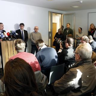 Roda de premsa de Puigdemont a Berlín
