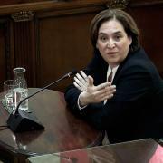 Ada Colau en un moment de la seva declaració al Suprem