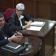 Advocats de les defenses en la sessió de dijous