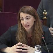 L'advocada Judith Gené, durant el judici