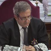 El fiscla Javier Zaragoza durant la sessió de dimecres 10 d'abril