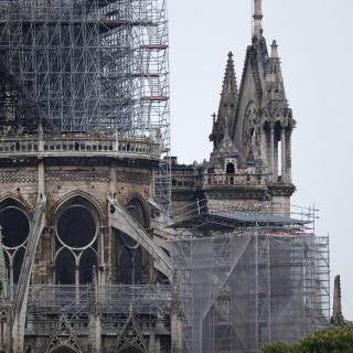 Imatge ja de dia de Notre-Dame després de l'incendi
