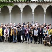 Foto de família del tradicional esmorzar del món literari i editorial de les comarques gironines