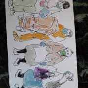 En aquest cas jo segueixo dibuixant els meus personatges de sempre però adaptats a la situació actual
