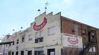 L'habitatge on viu part de la família Arderiu està situat a la mateixa nau del polígon Can Castells Foto:Ramon Ferrandis